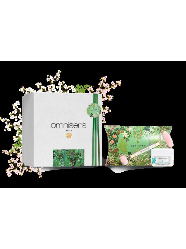 ANTI-AGING SPA RITUAL GIFT BOX Rich Cream SECRETS DU TEMPS + Pink Quartz Roller® - OMNISENS.fr