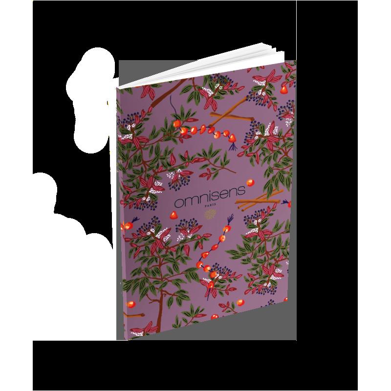 CARNET DE POCHE JARDIN DES SENS -VIOLET Un indispensable chic à glisser dans sa poche. Un carnet très élégant orné de jolies ill