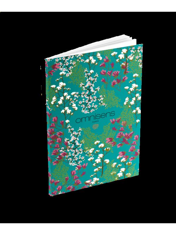 CARNET DE POCHE BLEU Carnet aux imprimés floraux DOUCEUR MARINE14 x 9 cm - OMNISENS.fr