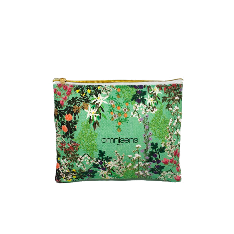 BEAUTY POUCH A floral print pouch Omnisens16.5 x 18.5 cm - OMNISENS.fr