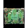 POCHETTE BEAUTE Votre indispensable pochette beauté.  Une ravissante pochette en toile de coton et au design bucolique. Une trou