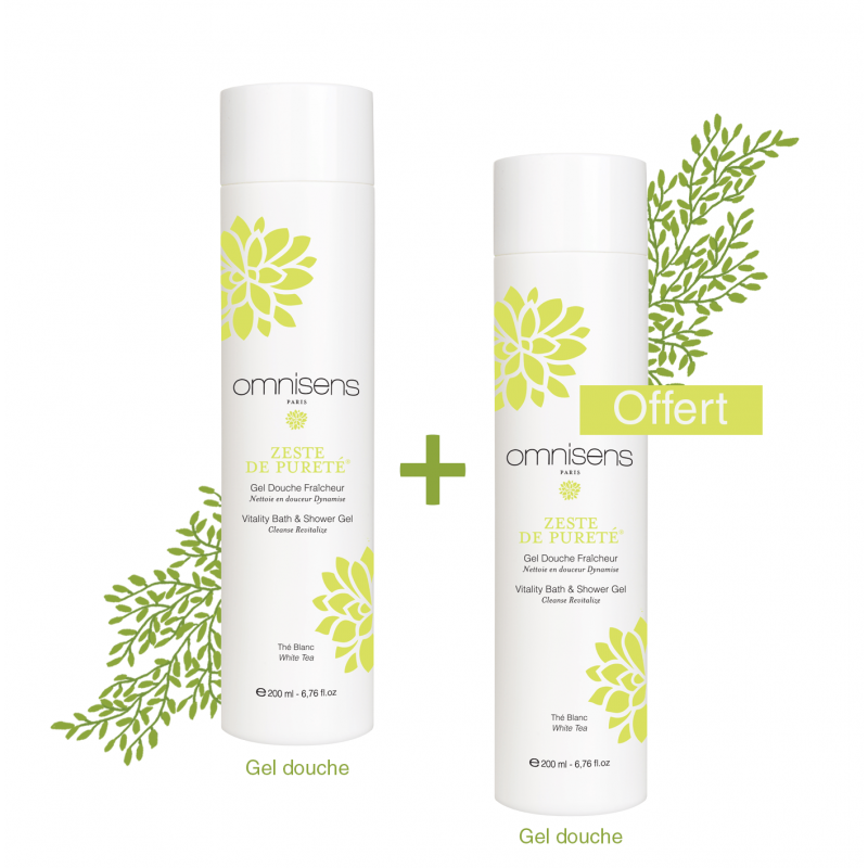 1+1 Offer - Shower Gel Vitality Bath & Shower Gel 200ml - OMNISENS.fr
