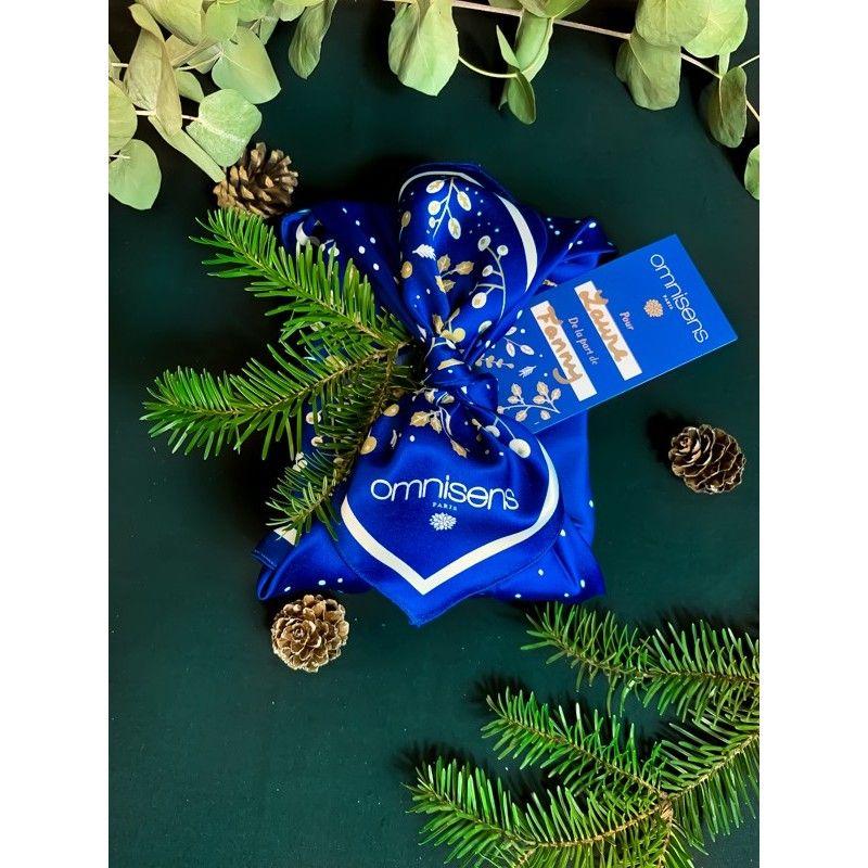 Le Foulard à Cadeau -  Furoshiki Omnisens Offrez vos cadeaux de Noël dans ce magnifique foulard Furoshiki, une alternative aux e