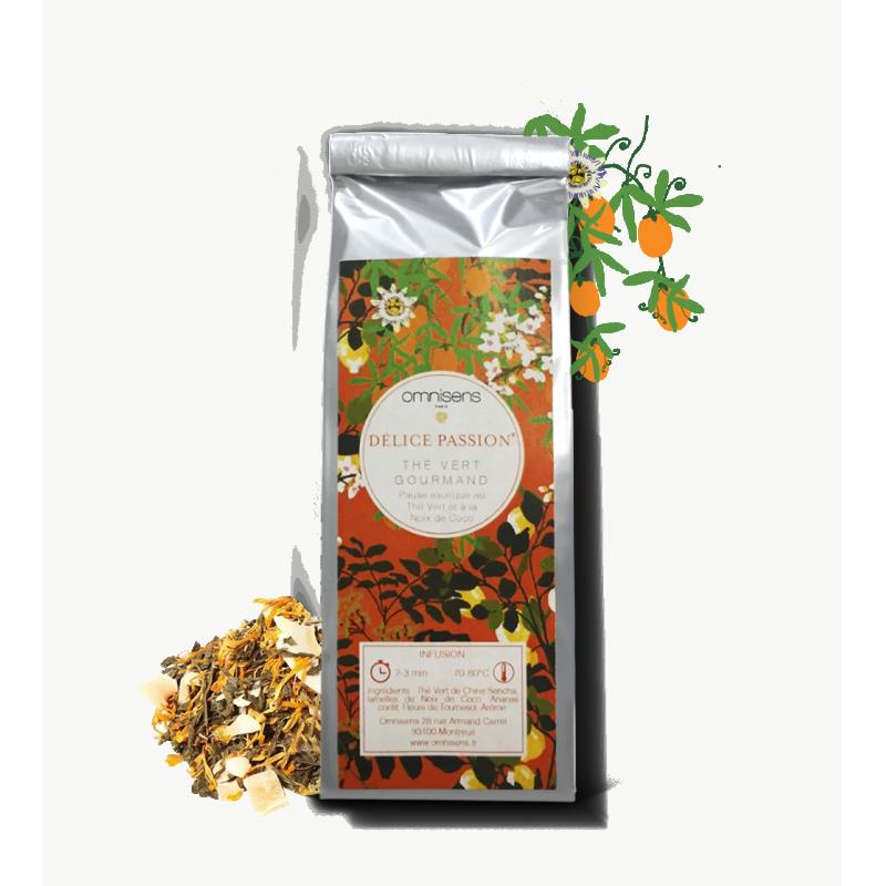 Green Tea DÉLICE PASSION® Thé Vert Gourmand 35g - OMNISENS.fr