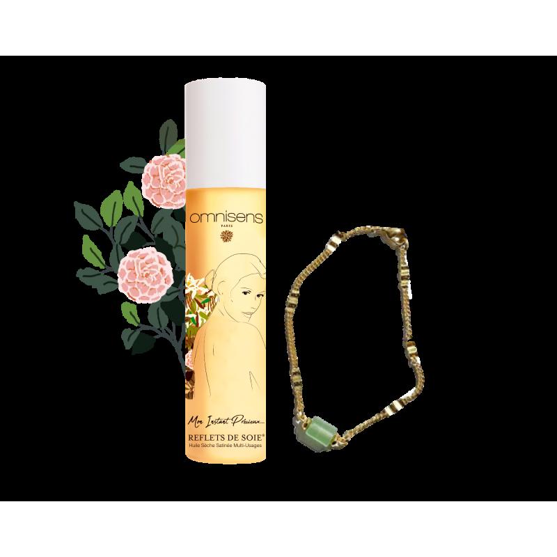 Satin dry oil REFLETS DE SOIE® & EIDEN bracelet FREE